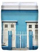 Blue Curacao House Duvet Cover
