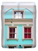 Blue House Duvet Cover