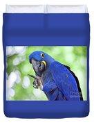 Blue Hyacinth Macaw Duvet Cover