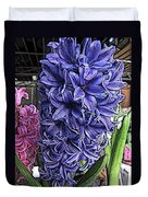 Blue Hyacinth Duvet Cover