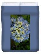 Blue Hydrangea Bouquet Duvet Cover