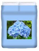 Blue Hydrangea Floral Art Print Hydrangeas Flowers Baslee Troutman Duvet Cover