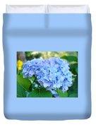 Blue Hydrangea Flowers Art Botanical Nature Garden Prints Duvet Cover