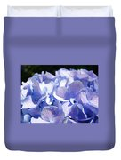 Blue Hydrangea Flowers Art Prints Baslee Troutman Duvet Cover