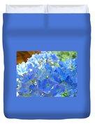 Blue Hydrangea Flowers Art Prints Summer Hydrangeas Baslee Duvet Cover