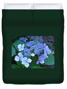 Blue Hydrangea Flowers Floral Art Baslee Troutman Duvet Cover