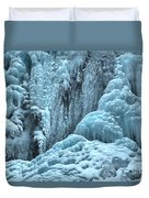 Blue Ice Flows At Tangle Falls Duvet Cover