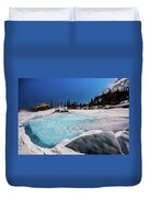 Blue Ice Sheet - Lake Hiayaha Duvet Cover