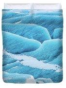 Blue Ice Svinafellsjokull Glacier Iceland Duvet Cover