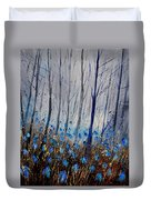 Blue In The Wood Duvet Cover