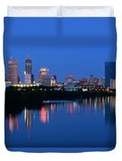 Blue Indianapolis Duvet Cover