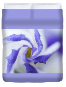 Blue Inspiration. Lisianthus Flower Macro Duvet Cover