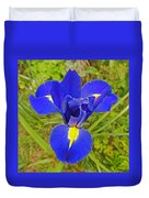 Blue Iris Beauty Duvet Cover
