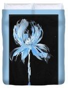 Blue Iris Bulb Duvet Cover