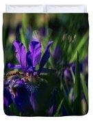 Blue Iris Field  Duvet Cover
