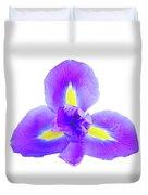 Blue Iris Flower Duvet Cover