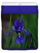 Blue Iris Petal Duvet Cover