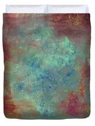 Blue Iron Texture Painting Duvet Cover
