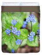 Blue Jack Frost Flowers Duvet Cover