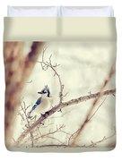 Blue Jay Winter Duvet Cover