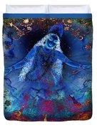 Blue Jogini Duvet Cover