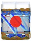 Blue Kimono Duvet Cover