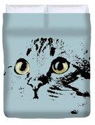 Blue Kitten Portrait Duvet Cover