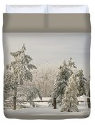 Blue Knob Winter Duvet Cover