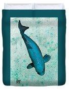 Blue Koi Duvet Cover