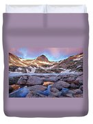 Blue Lake Sunrise Duvet Cover