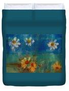 Blue Landscape In Oil Duvet Cover
