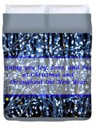 Blue Lights Abstract Christmas Duvet Cover