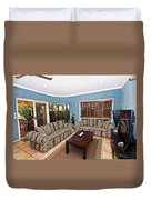 Blue Living Room Duvet Cover