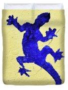 Blue Lizard Duvet Cover