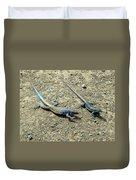 Blue Lizards Duvet Cover