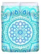 Blue Lotus Mandala Duvet Cover