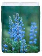 Blue Lupine In The Tetons  Duvet Cover