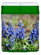 Blue Lupines Duvet Cover