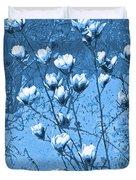 Blue Magnolia Duvet Cover
