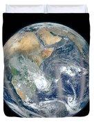 Blue Marble 2012 - Eastern Hemisphere Of Earth Duvet Cover