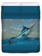Blue Marlin Burst Duvet Cover