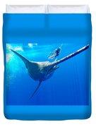 Blue Marlin Magic Duvet Cover