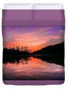 Blue Marsh Lake Sunset Duvet Cover