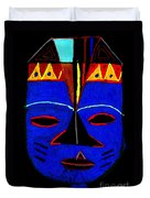 Blue Mask Duvet Cover by Angela L Walker