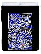 Blue Maze Duvet Cover