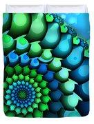 Blue Meets Green Duvet Cover