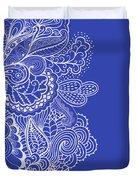 Blue Mehndi Duvet Cover