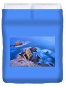 Blue Mermaid Reef At Sunset Duvet Cover