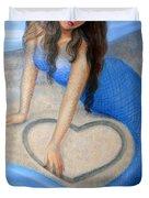 Blue Mermaid's Heart Duvet Cover