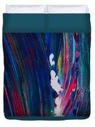 Blue Mood Abstract Duvet Cover
